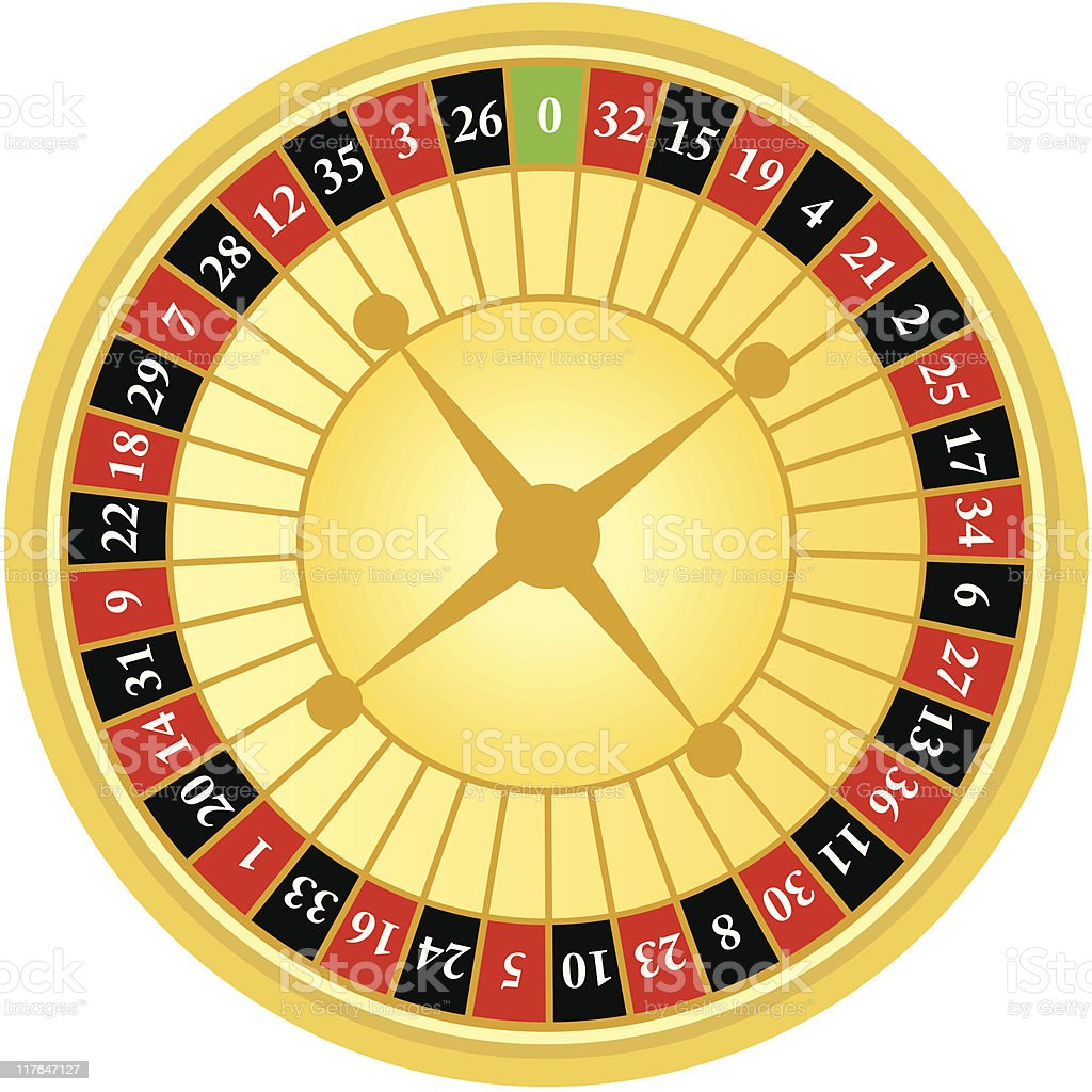 roulette wheel two royalty-free stock vector art