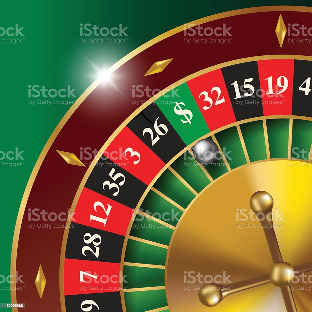 Roulette wheel vector art illustration