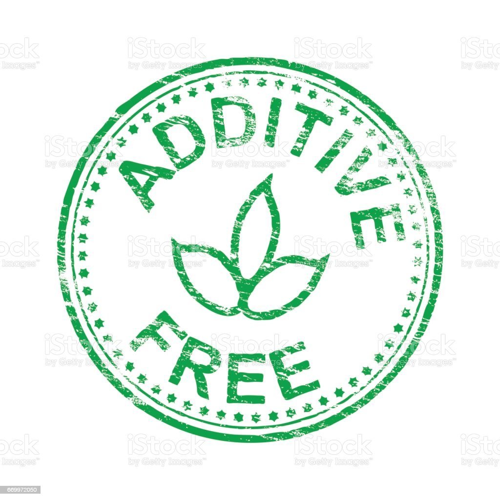 Round Additive Free Stamp vector art illustration