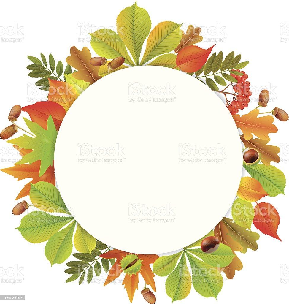 Round autumn banner royalty-free stock vector art