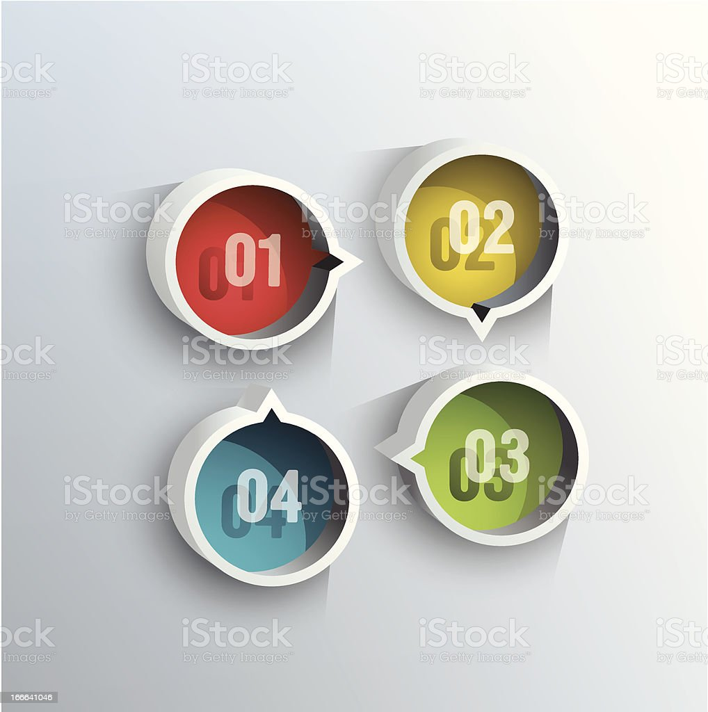Round blocks with numbers. royalty-free stock vector art