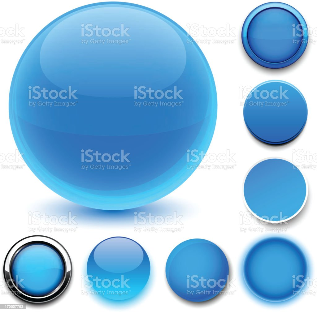 Round blue icons. royalty-free stock vector art