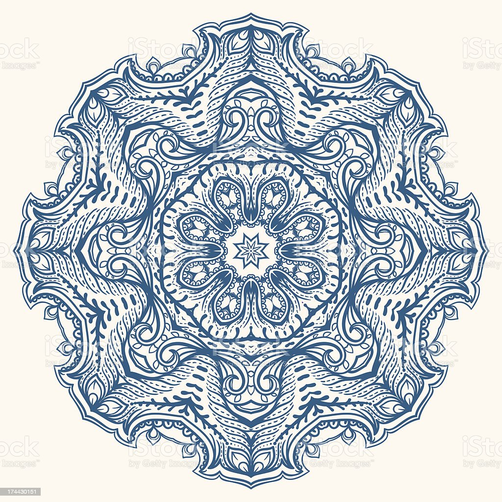 round blue pattern royalty-free stock vector art