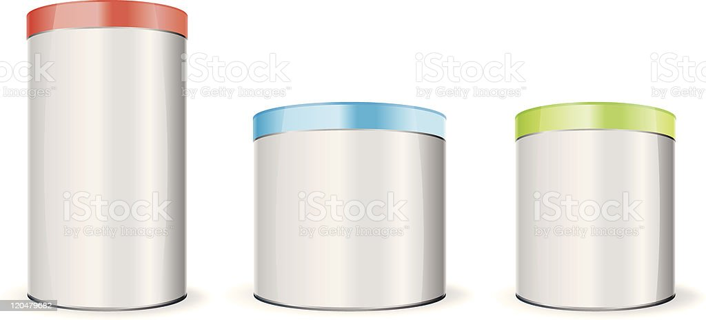 Round boxes royalty-free stock vector art