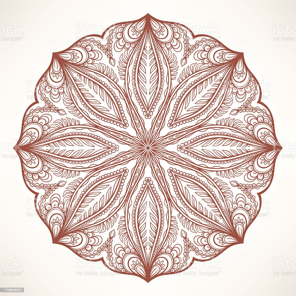round brown pattern royalty-free stock vector art