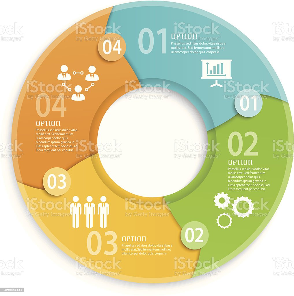 Round Business Infographic vector art illustration