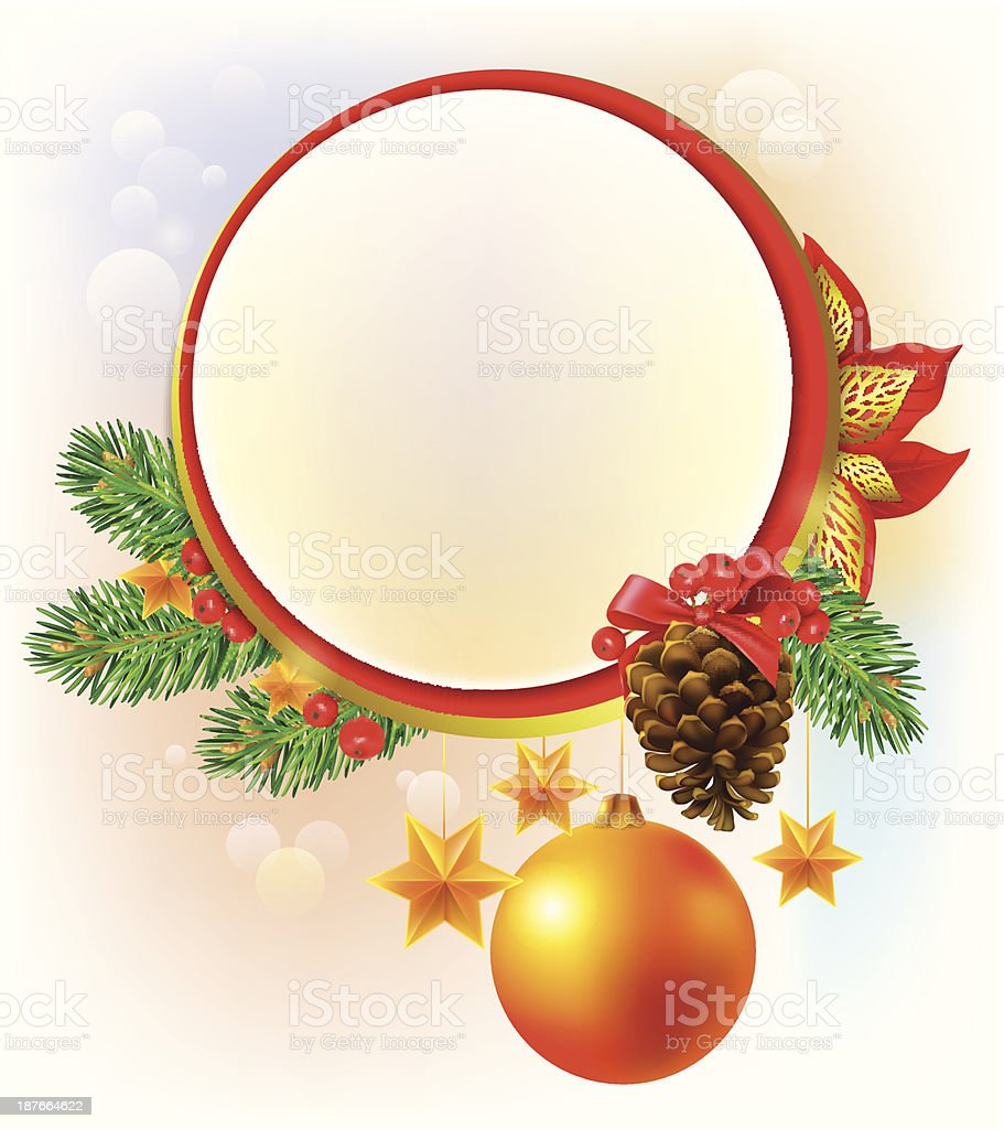 Round Christmas banner royalty-free stock vector art
