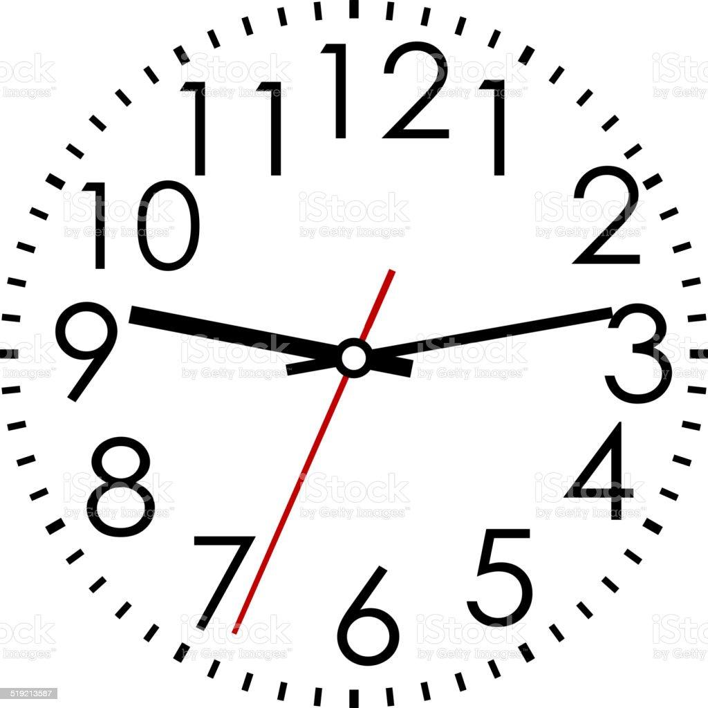 Line Drawing Of Clock Face : Runde zifferblatt mit arabischen ziffern vektor