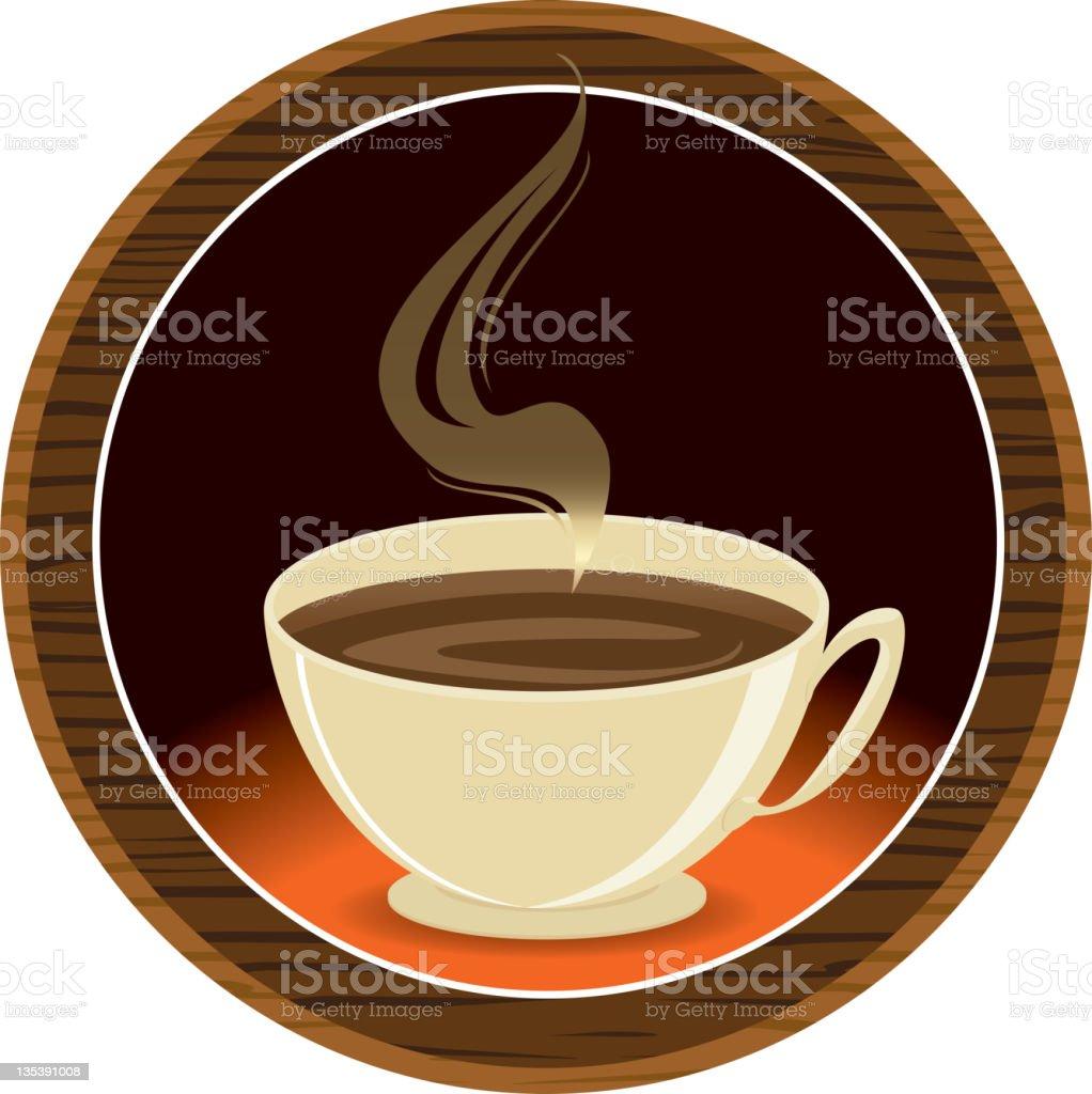 Round Coffee Plaque royalty-free stock vector art