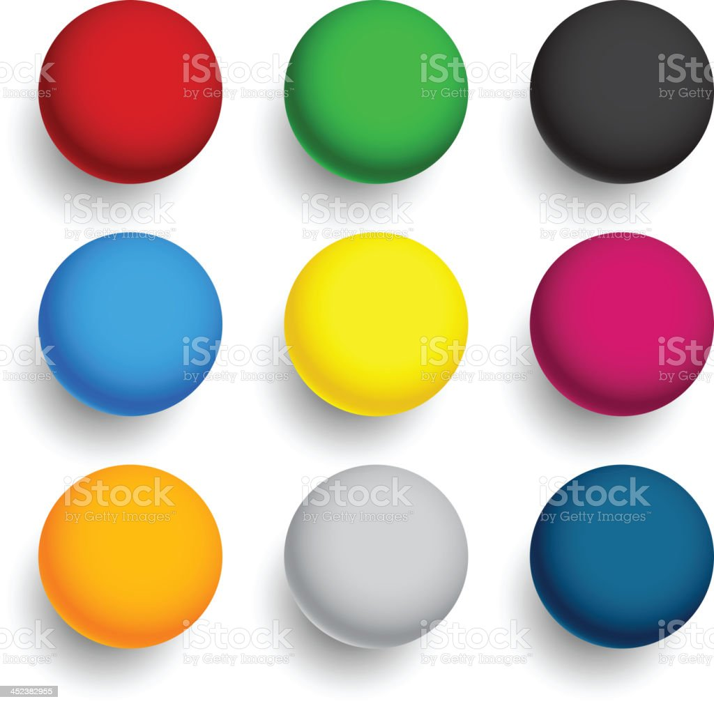 Round colorful balls. royalty-free stock vector art