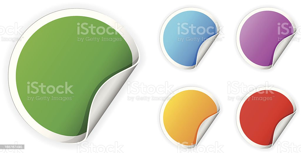 Round Colorful Stickers royalty-free stock vector art