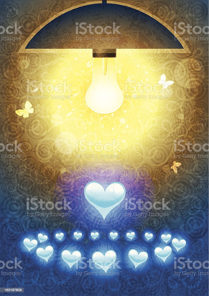 Round dance of hearts royalty-free stock vector art