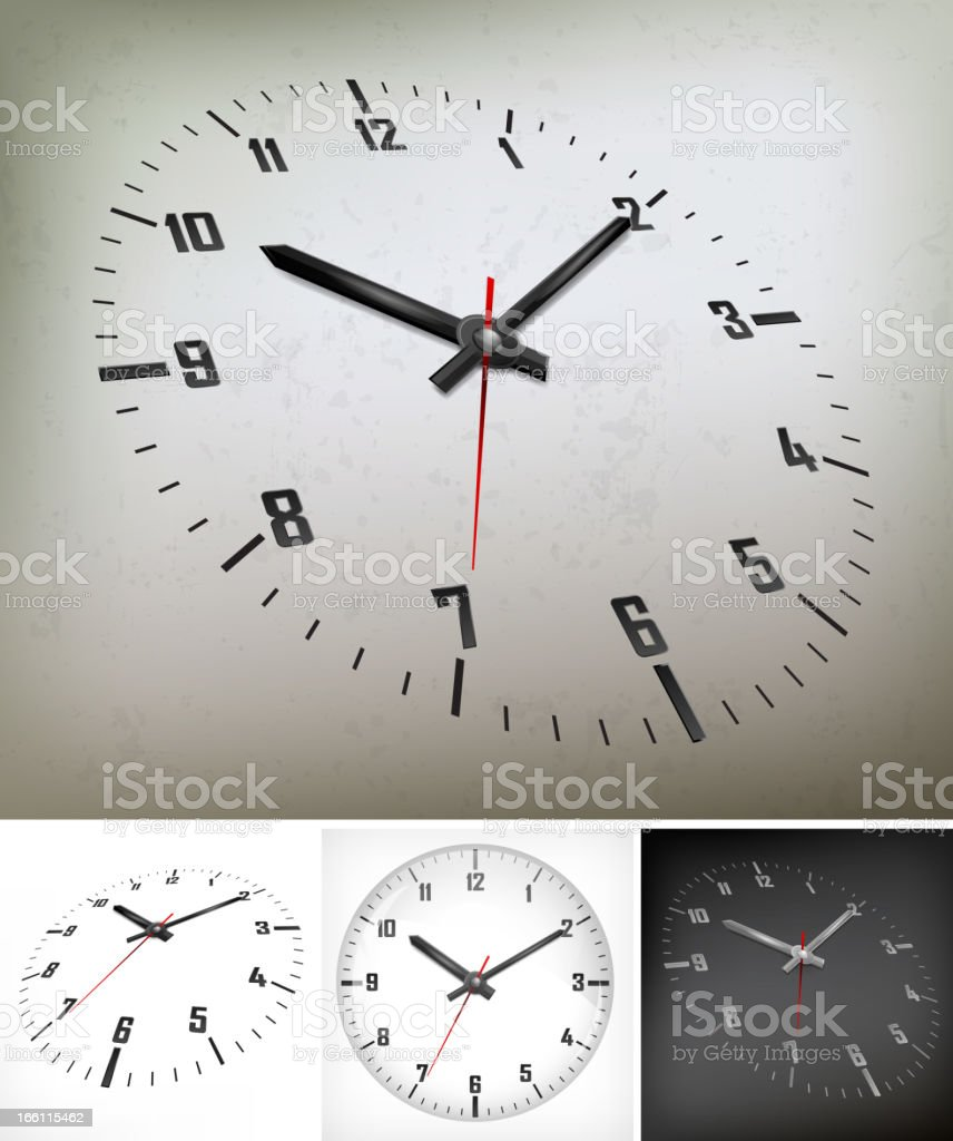 round dial on gray royalty-free stock vector art
