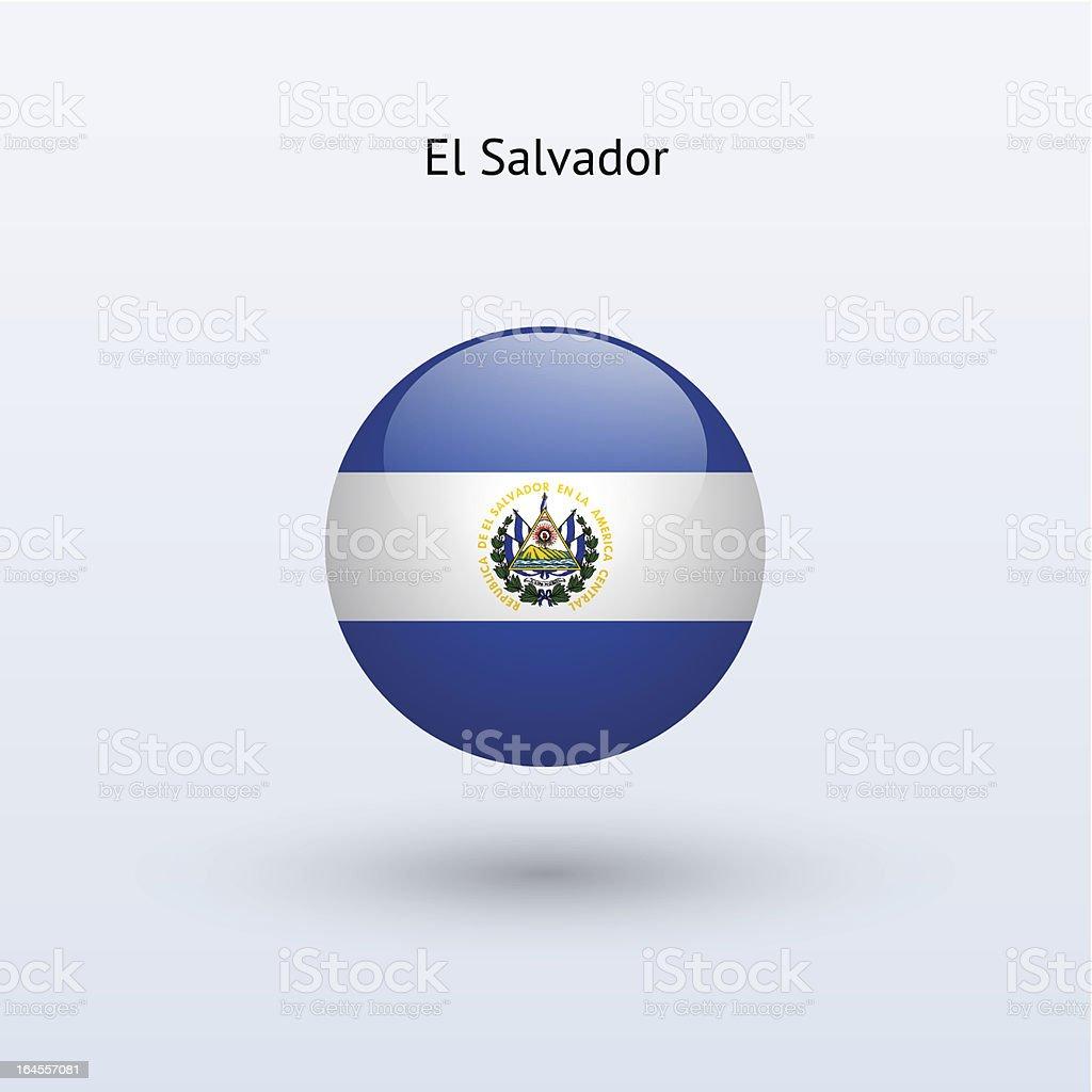 Round flag of El Salvador royalty-free stock vector art