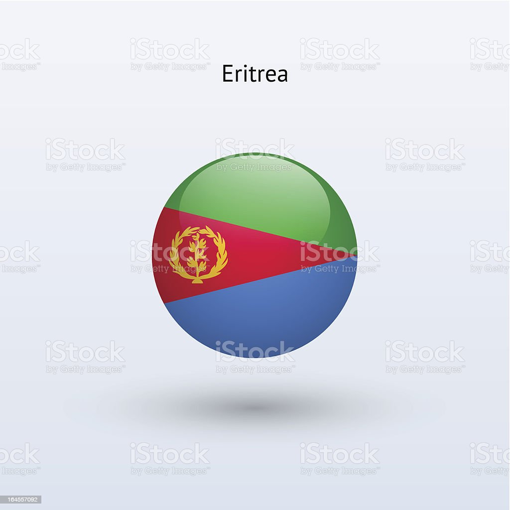 Round flag of Eritrea royalty-free stock vector art