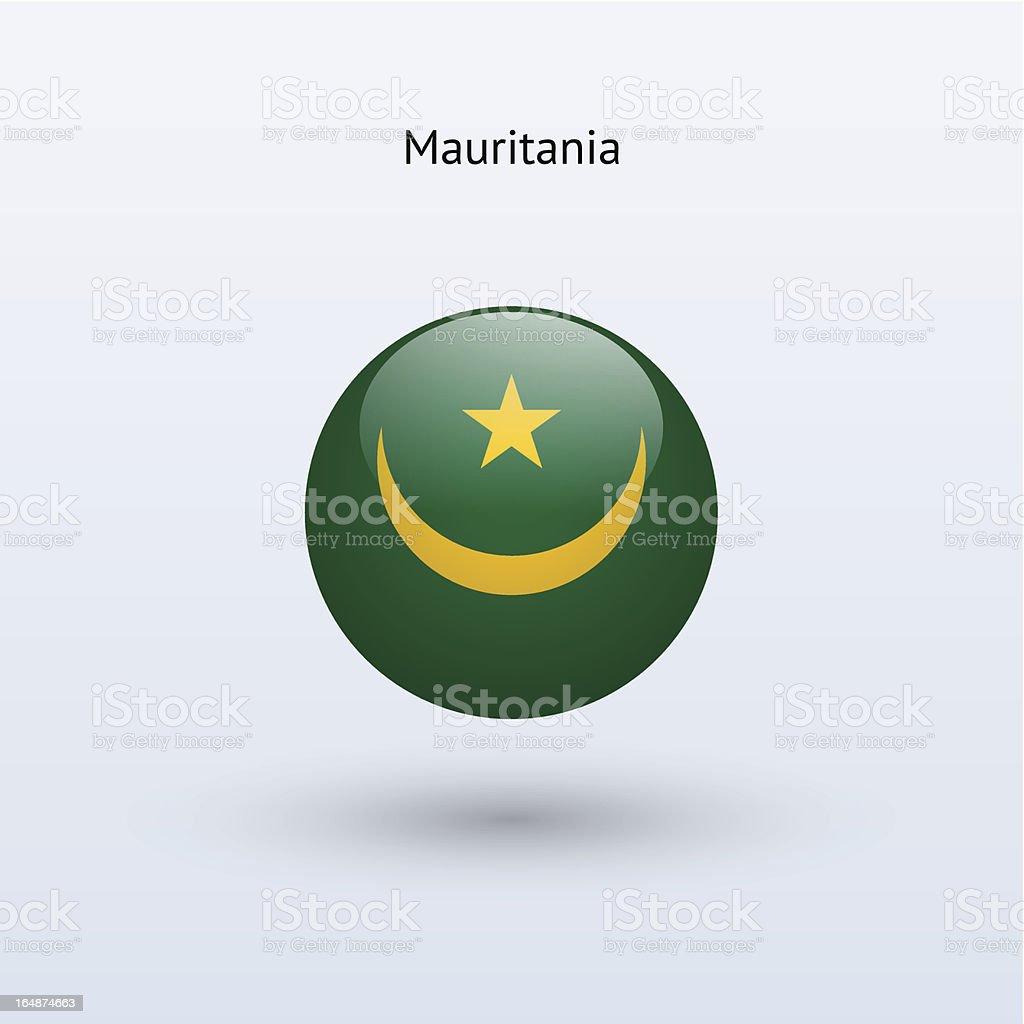 Round flag of Mauritania royalty-free stock vector art