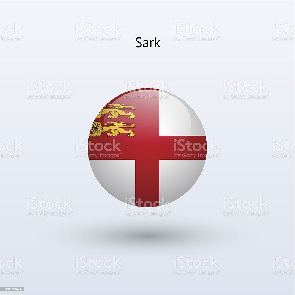Round flag of Sark royalty-free stock vector art