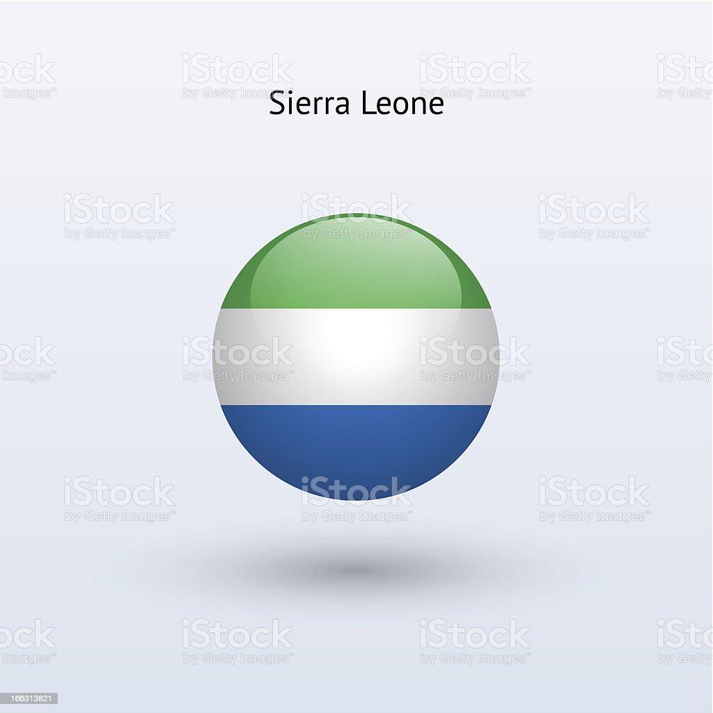 Round flag of Sierra Leone royalty-free stock vector art