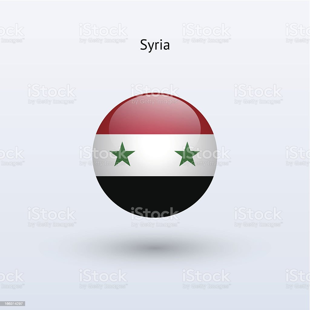 Round flag of Syria royalty-free stock vector art
