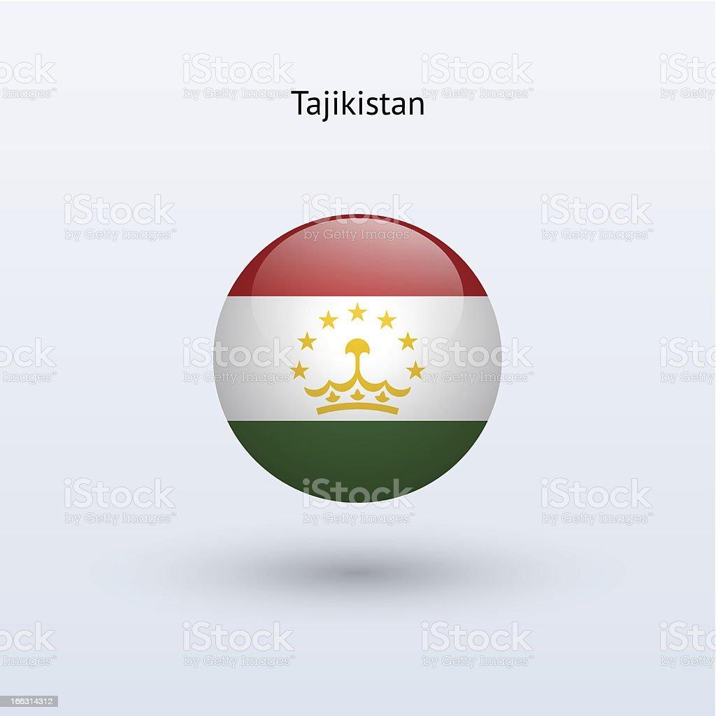 Round flag of Tajikistan royalty-free stock vector art
