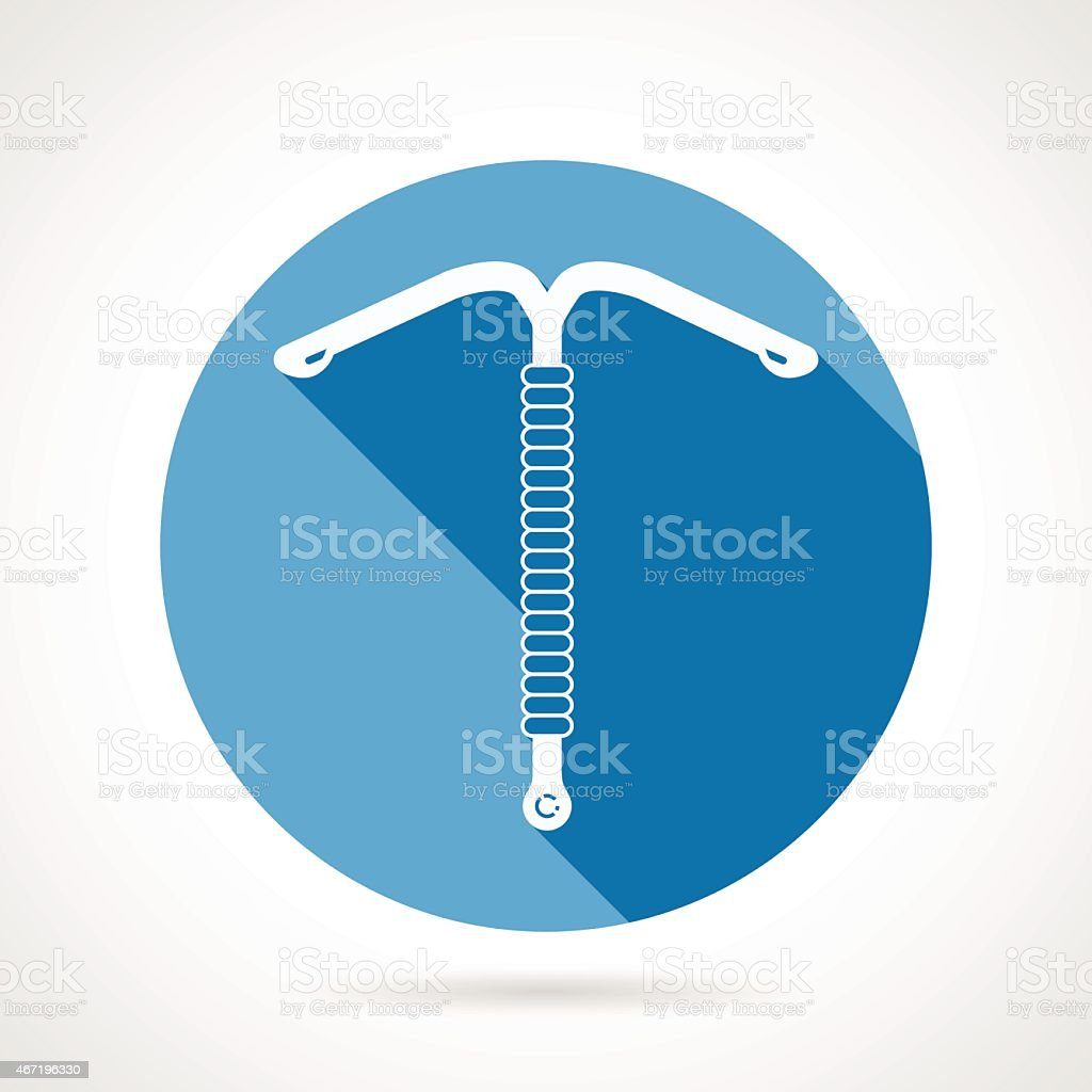 IUD round flat vector icon vector art illustration