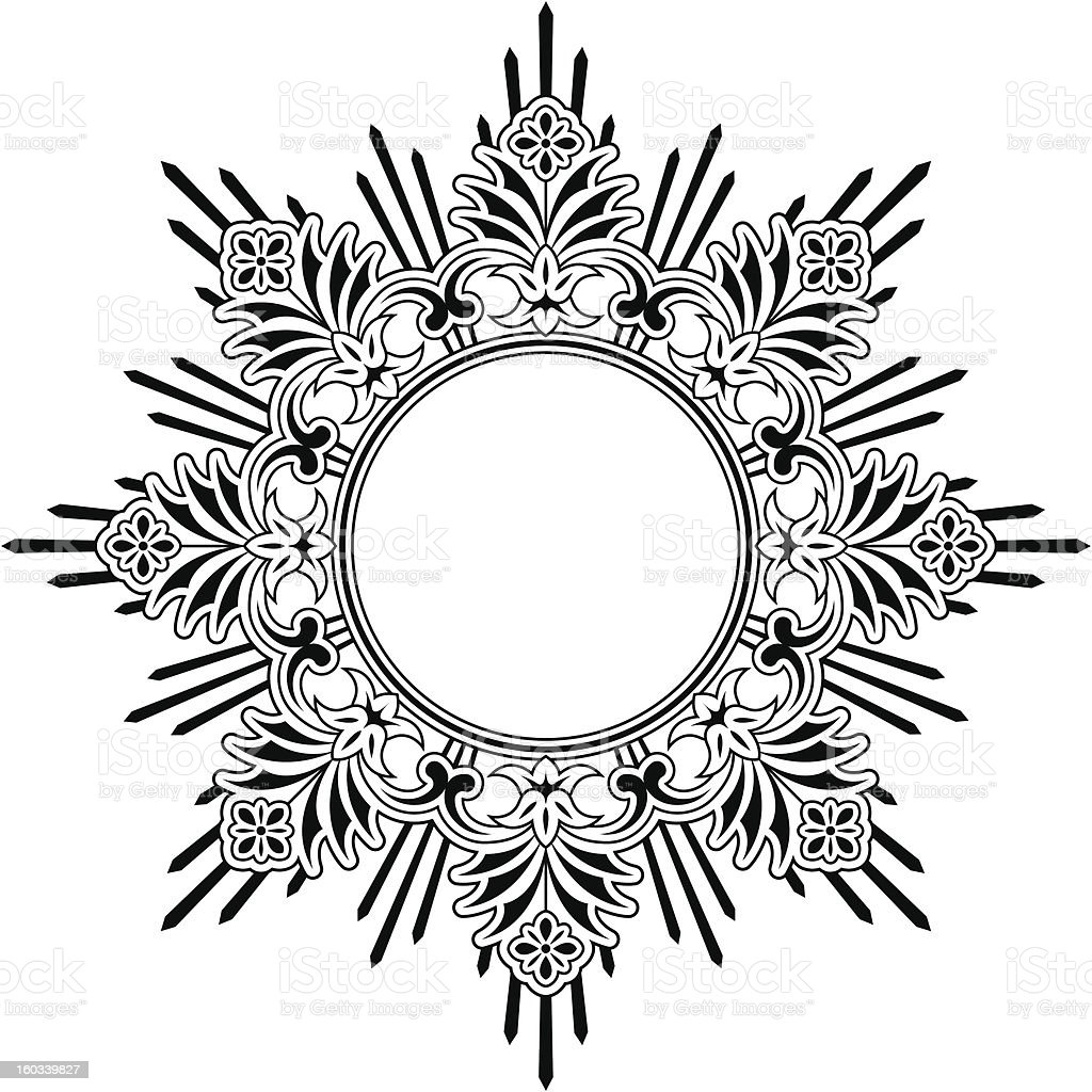 Round floral calligraphic border royalty-free stock vector art