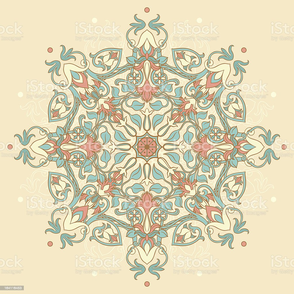 round floral pattern royalty-free stock vector art
