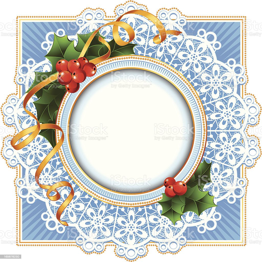 Round frame to the christmas royalty-free stock vector art