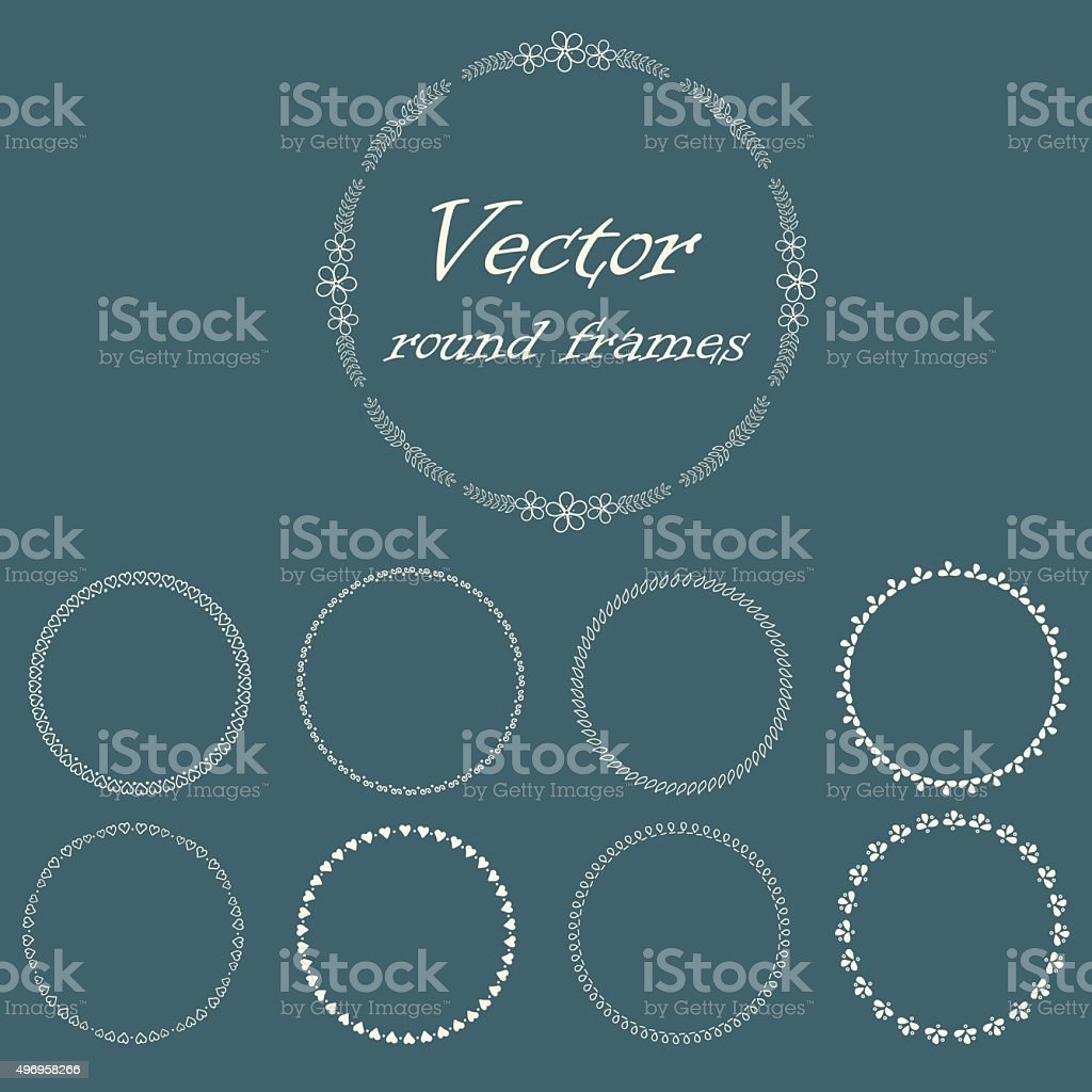 Round frame with decorative branch vector illustration stock - Round Frame With Decorative Branch Royalty Free Stock Vector Art