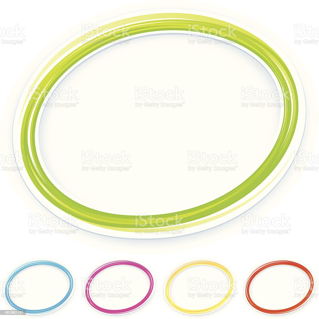 Round frames vector art illustration