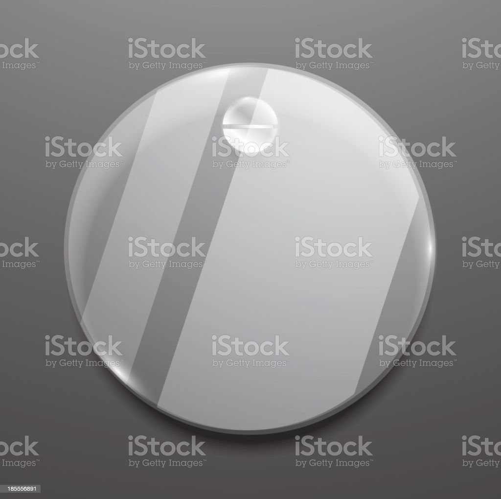 Round glass plaque royalty-free stock vector art