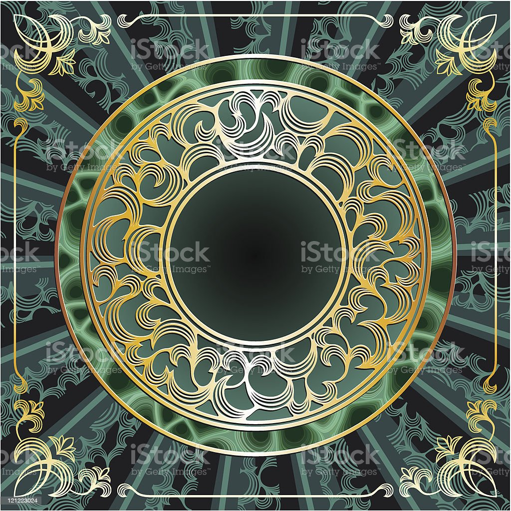 round gold frame royalty-free stock vector art
