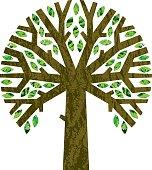 Round graphic tree symbol