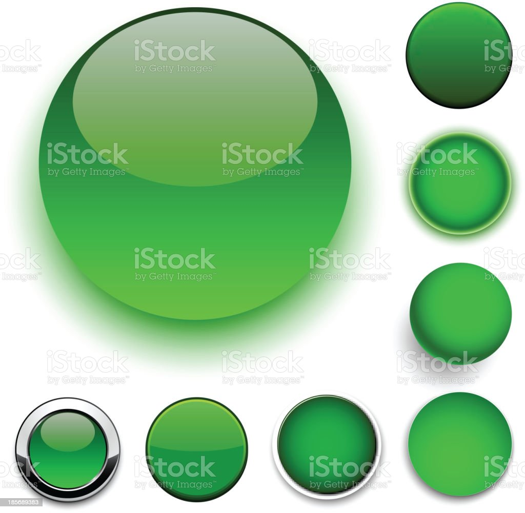 Round green icons. royalty-free stock vector art