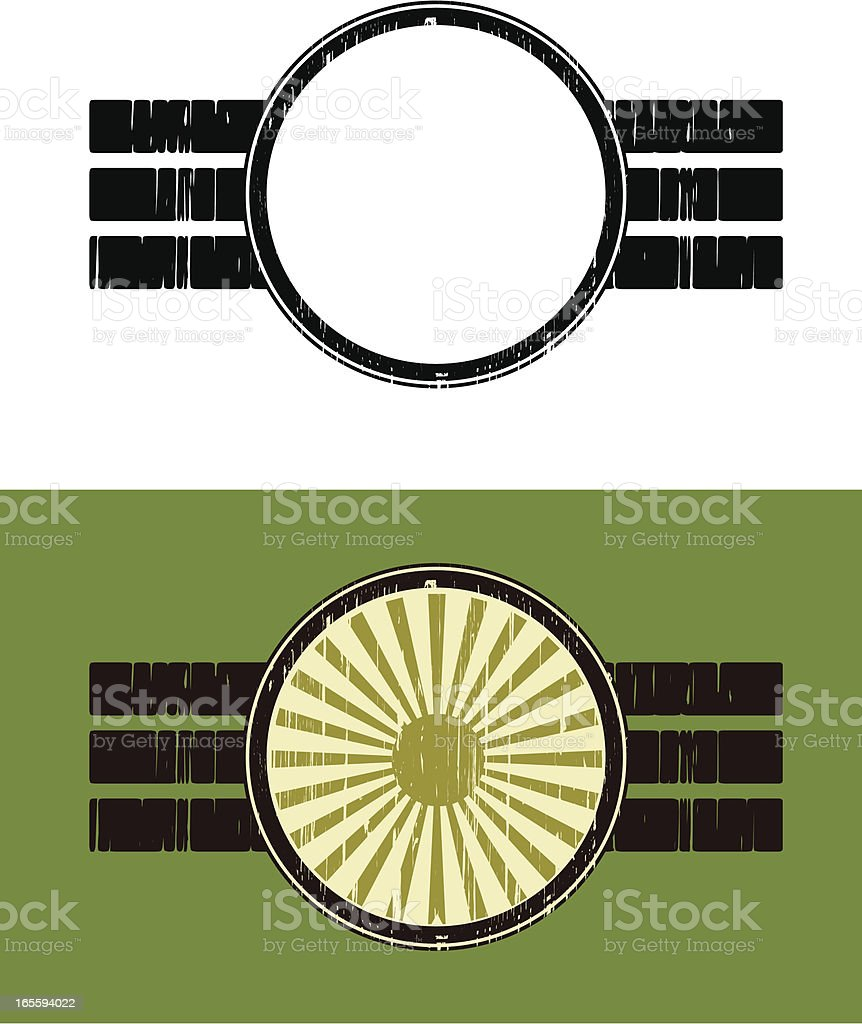 round grunge insignia vector art illustration