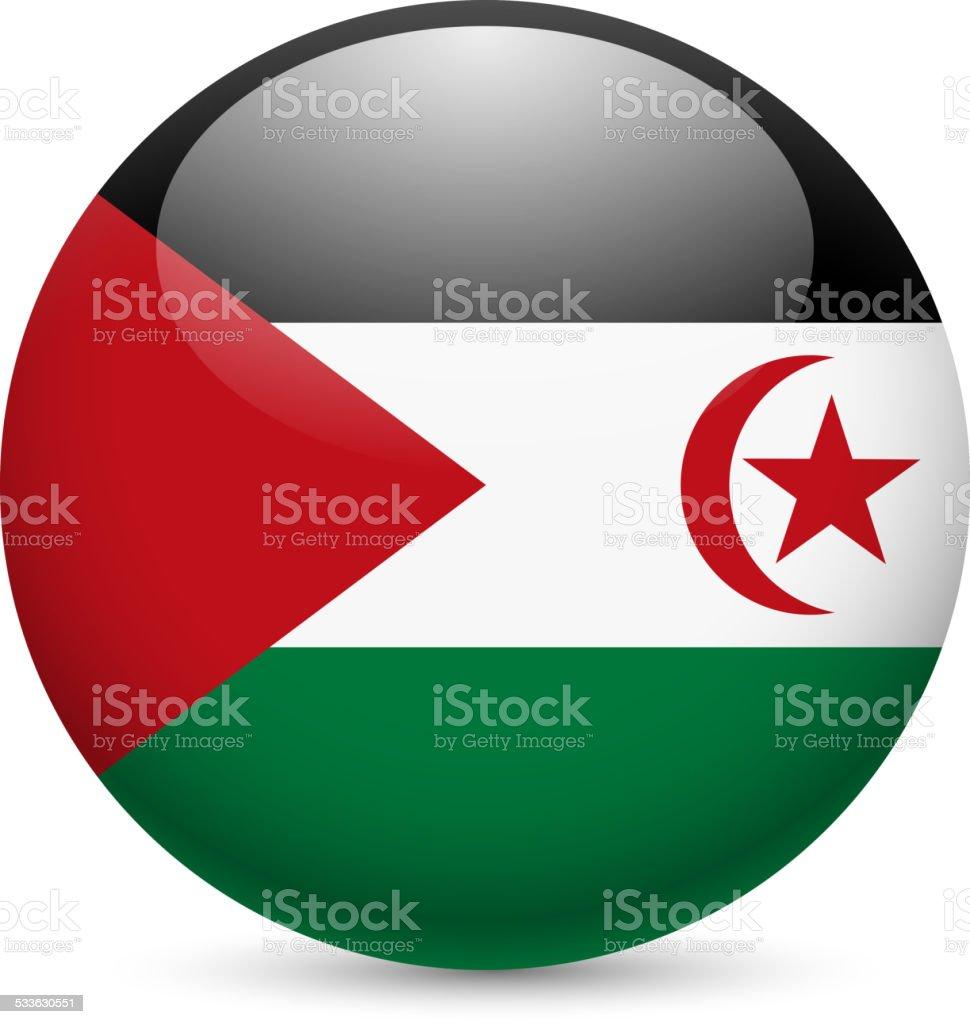 Round icon of Sahrawi Arab Democratic Republic vector art illustration