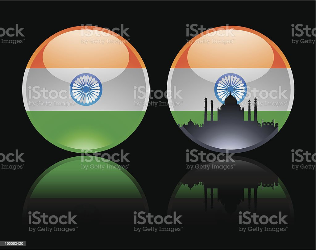 Round Indian Marble royalty-free stock vector art