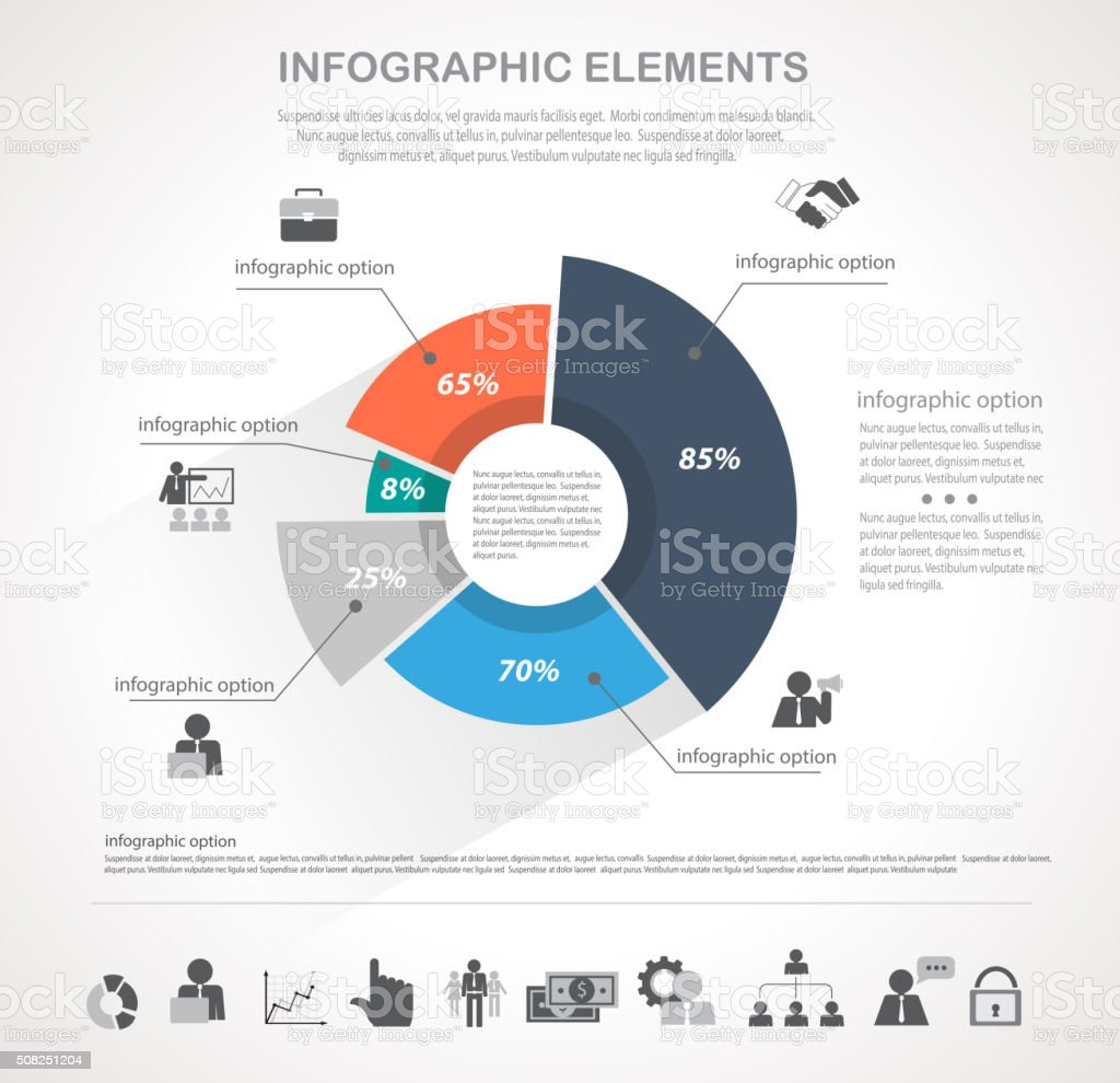 Round infographics vector art illustration