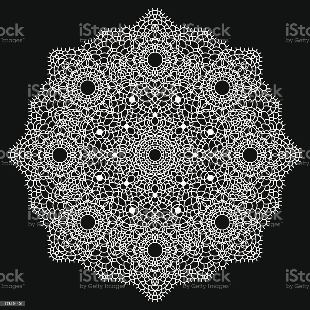 Round lace pattern. royalty-free stock vector art
