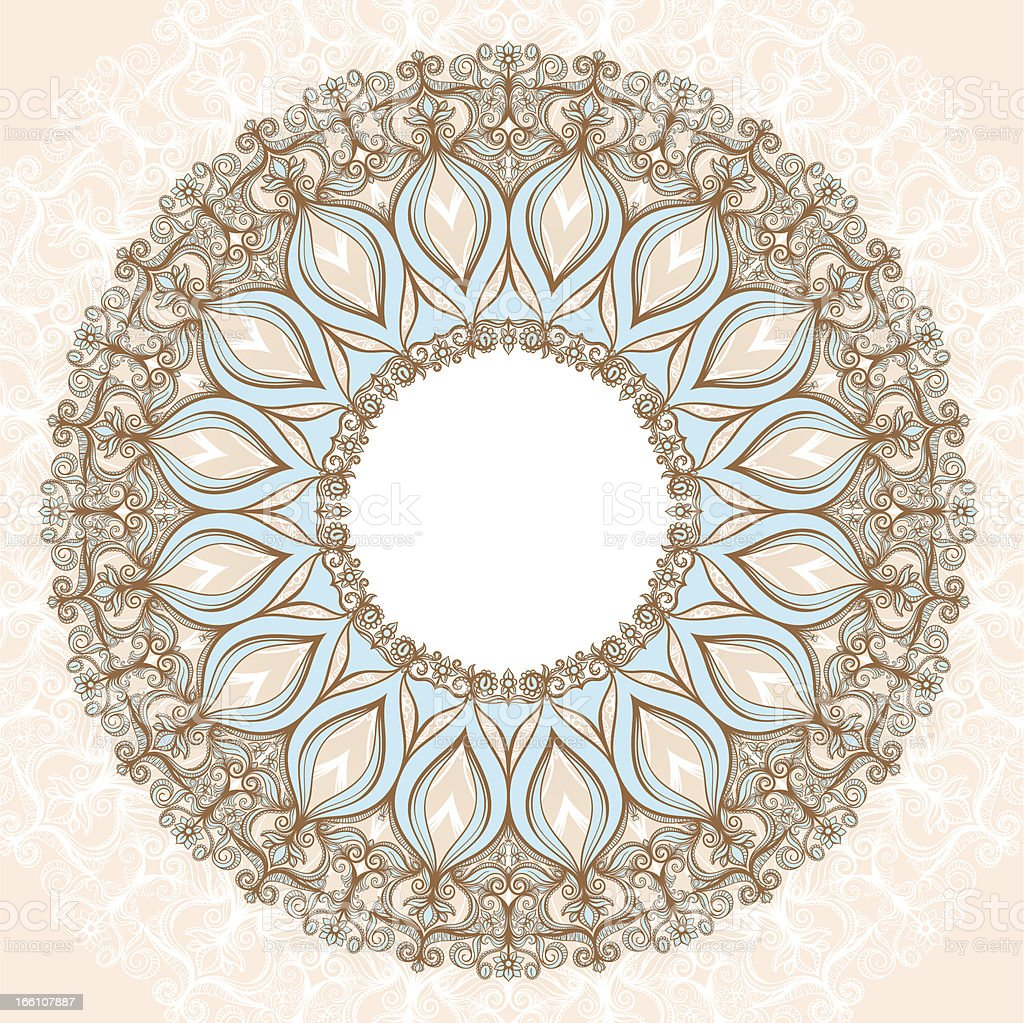round lacy pattern royalty-free stock vector art