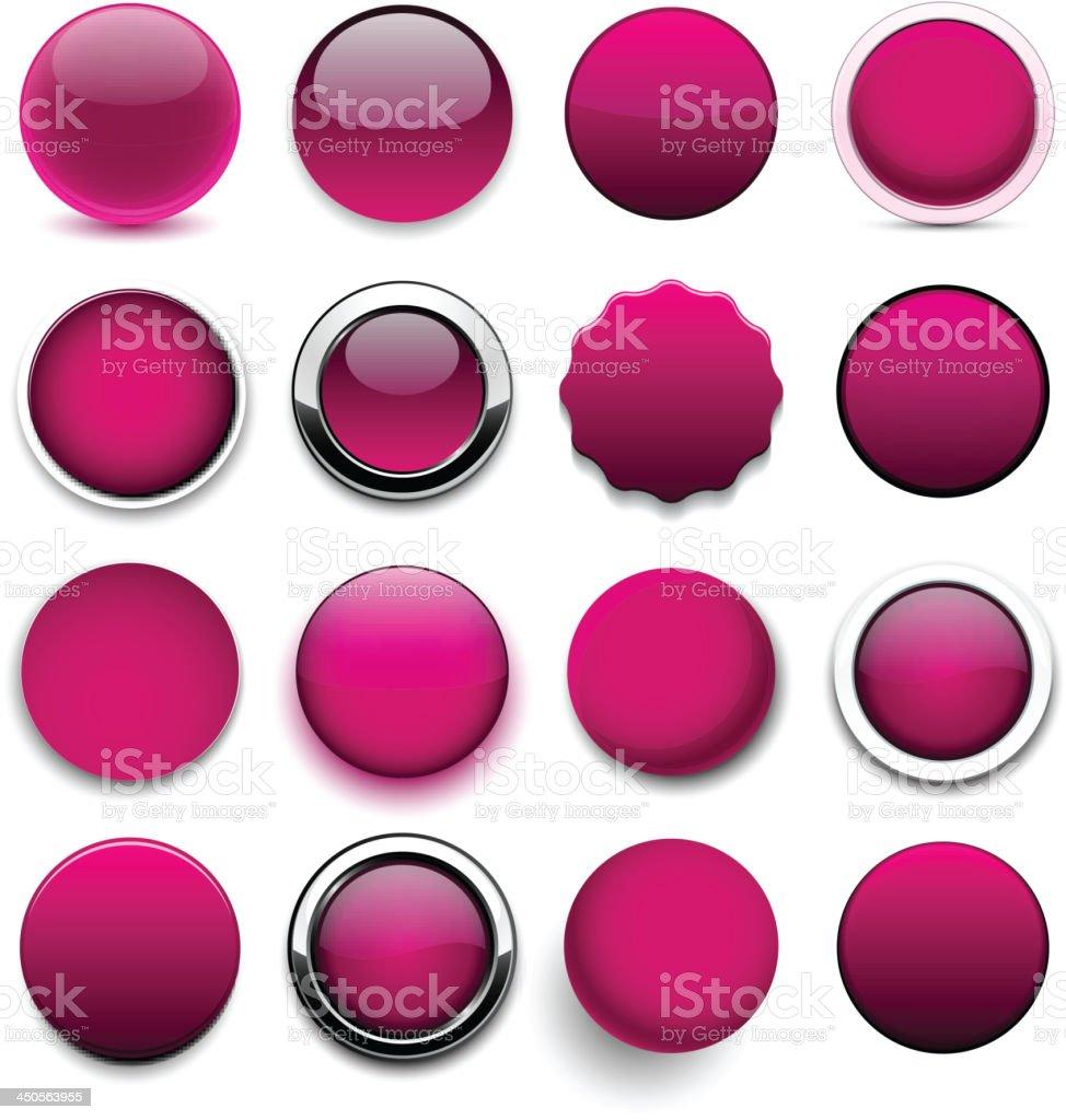 Round magenta icons. royalty-free stock vector art