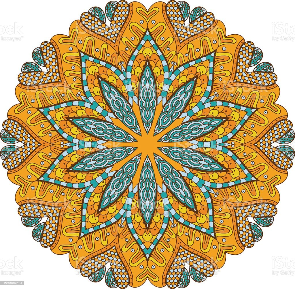 Round mandalas in vector. Abstract design element. vector art illustration