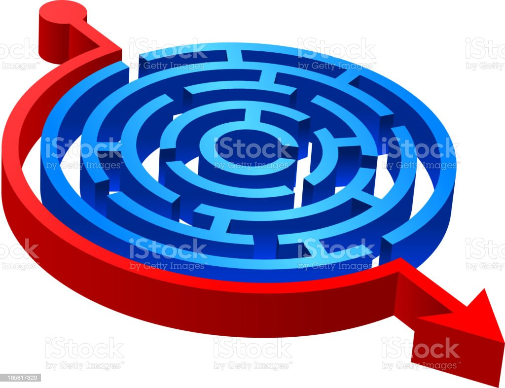 3D Round Maze royalty-free stock vector art