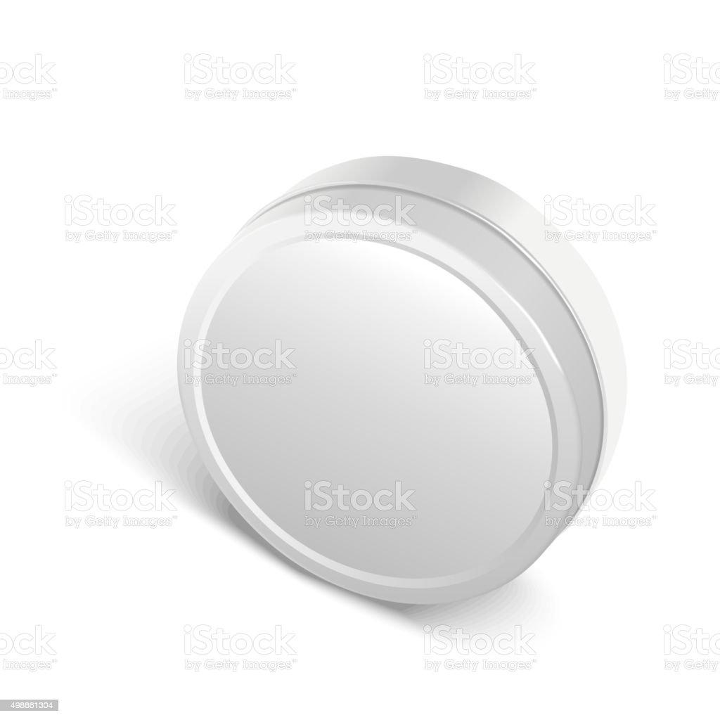 round metal box vector art illustration