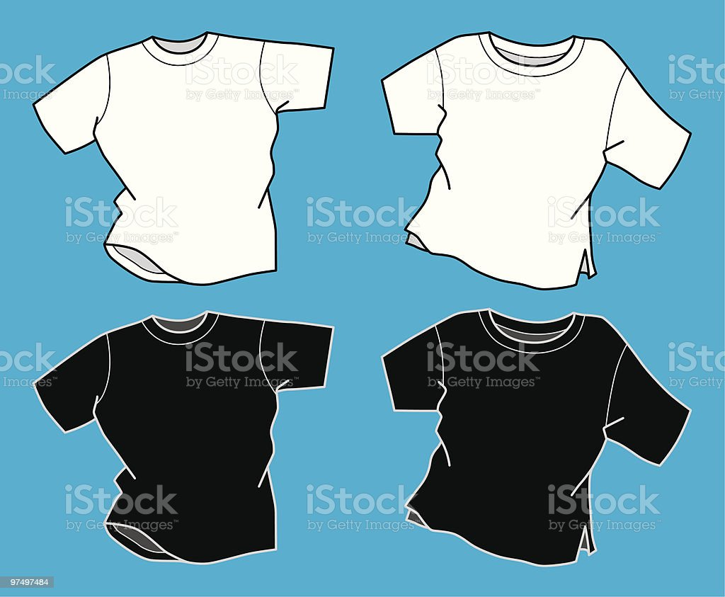 Round Neck T-Shirts royalty-free stock vector art