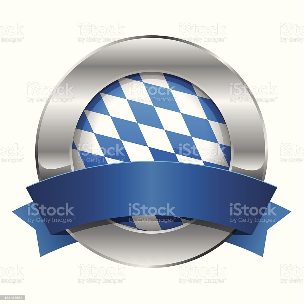 Round oktoberfest button with ribbon royalty-free stock vector art