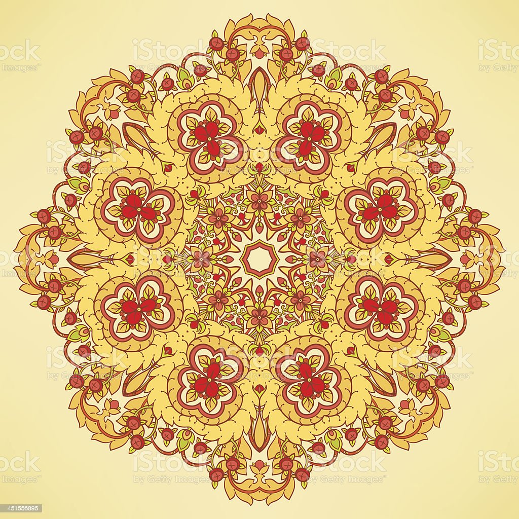 round orange pattern royalty-free stock vector art