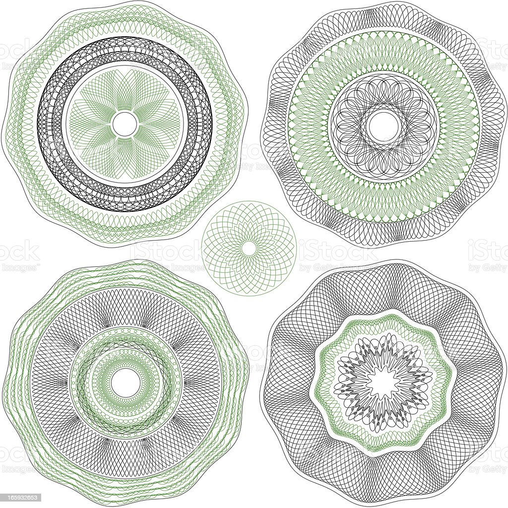 Round Ornament for blank Diploma or Certificate vector art illustration
