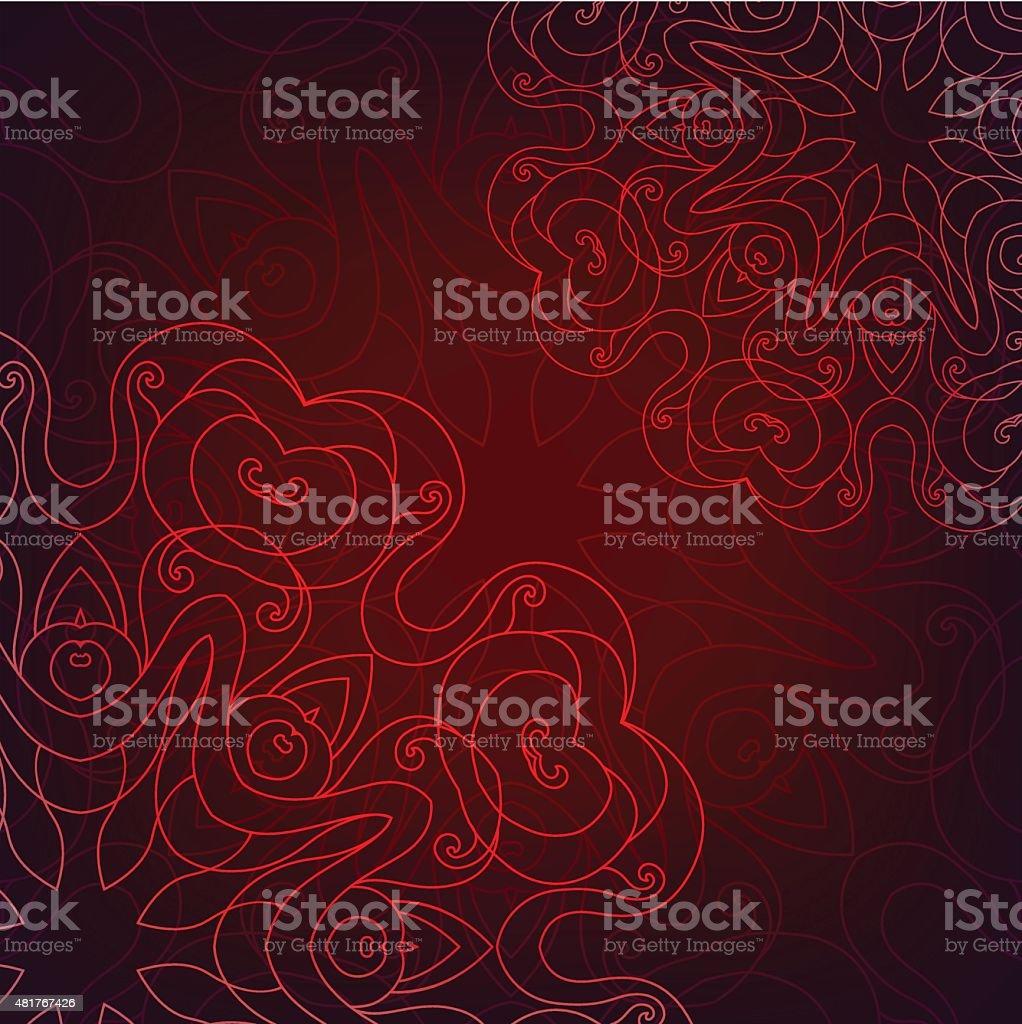Round Ornament Pattern. Vector illustration vector art illustration