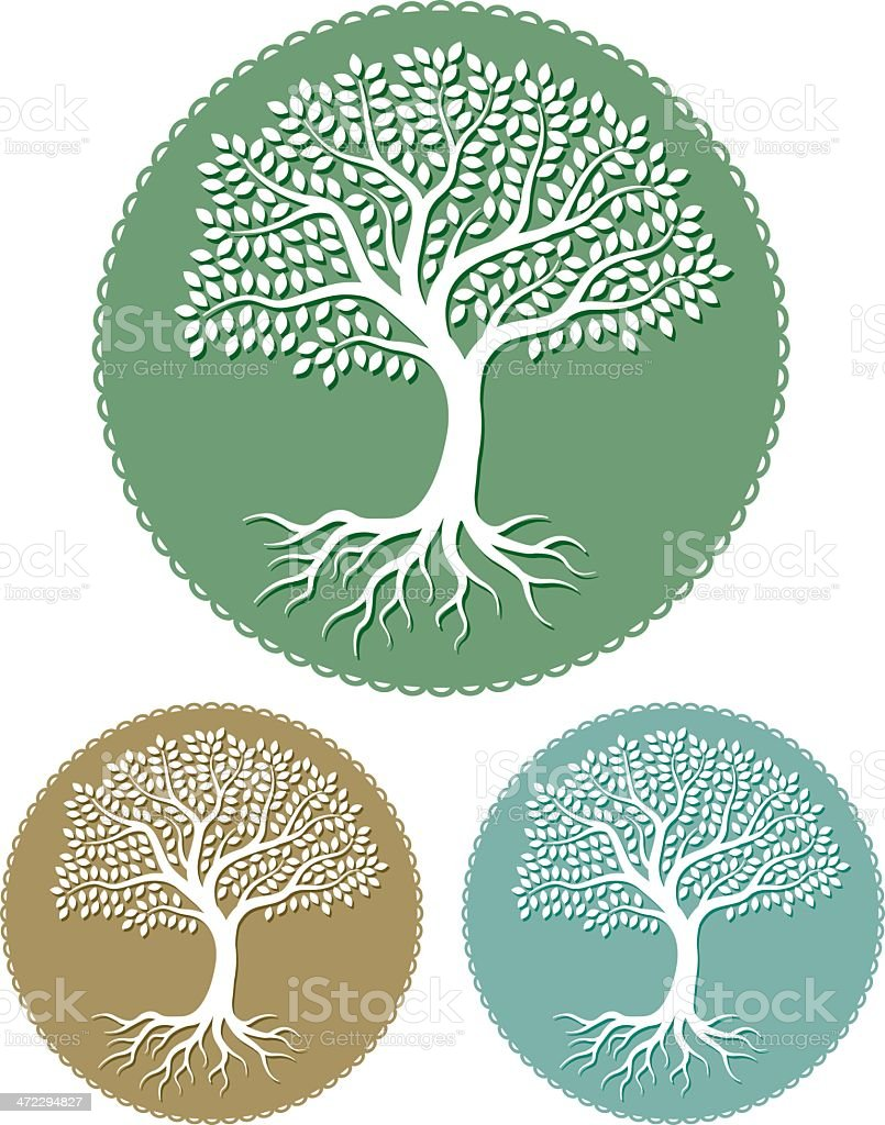Round paper tree royalty-free stock vector art